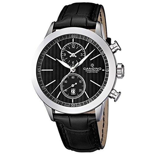 Candino Herren Armbanduhr Athletic Chic Chronograph Quarz Leder UC4505 4
