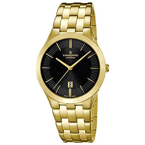 Candino Herren Armbanduhr Timeless analog Quarz Edelstahl Gelbgold PVD UC4541 3