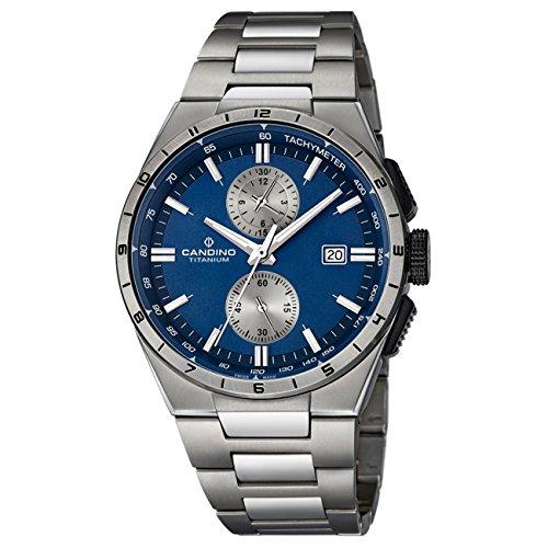 Candino Herren Uhr Candino analog Sport Titan Armband titan silbergrau Quarz Uhr Elegance Kollektion UC4603 2