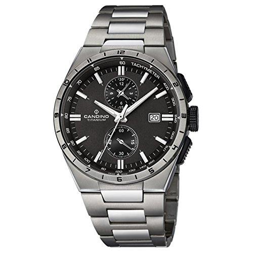 Candino Herren Uhr Candino analog Sport Titan Armband titan silbergrau Quarz Uhr Elegance Kollektion UC4603 3