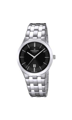 Candino WomenHerren Quarzuhr mit schwarzem Zifferblatt Analog Anzeige und Silber Edelstahl Armband C4543 3