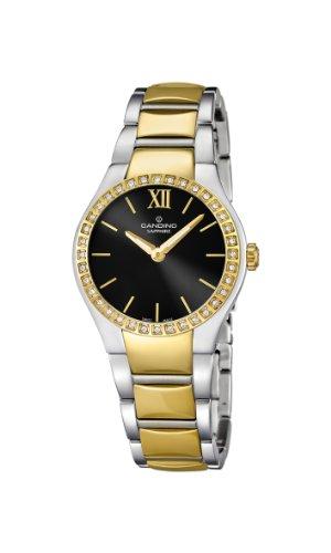 Candino WomenHerren Quarzuhr mit schwarzem Zifferblatt Analog Anzeige und Gold Armband Edelstahl C4538 3