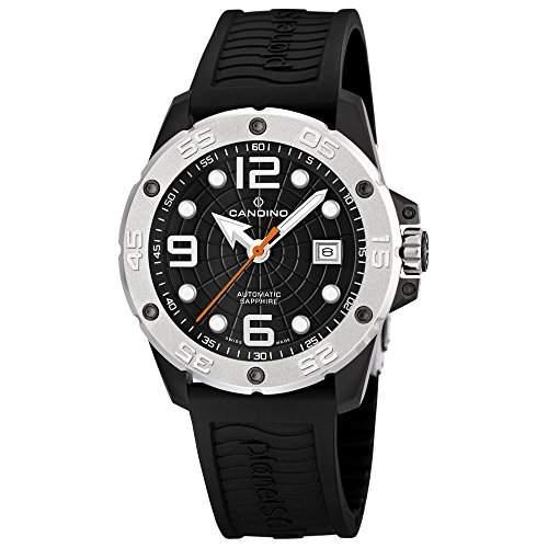 Candino Herren-Armbanduhr Planetsolar analog Automatik PU UC44743