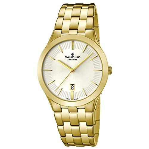 Candino Herren-Armbanduhr Timeless analog Quarz Edelstahl Gelbgold PVD UC45411