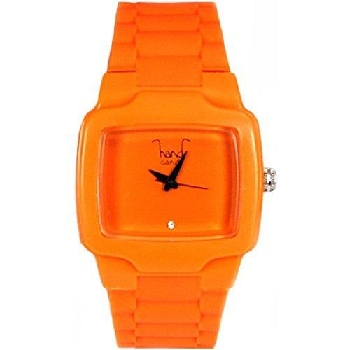 Hand Candy unebene mit orange Kautschukarmband HCTVOR