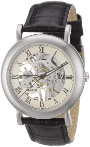 Regent Herren-Armbanduhr XL AnalogHandaufzug Leder 11020021