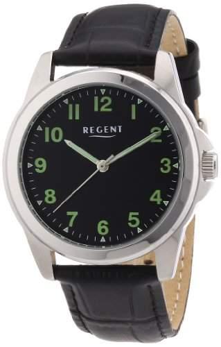 Regent Herren-Armbanduhr XL Analog Handaufzug Leder 11020028