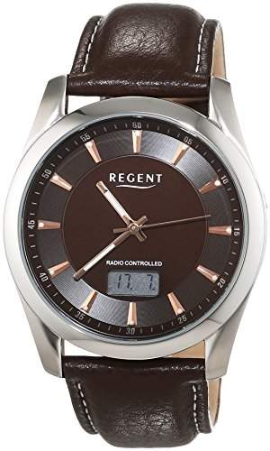 Regent Herren-Armbanduhr XL Analog - Digital Quarz Leder 11030102
