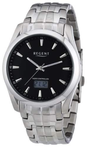 Regent Herren-Armbanduhr XL Analog - Digital Quarz Edelstahl 11030106