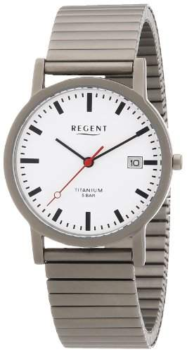 Regent Herren-Armbanduhr XL Analog Titan 11090210