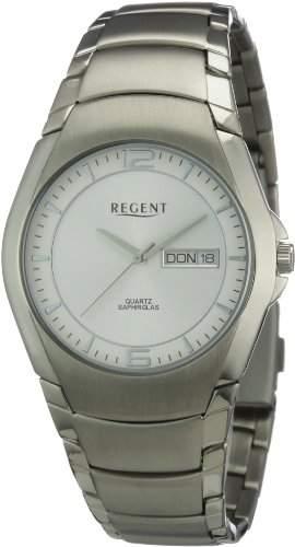 Regent Herren-Armbanduhr XL Analog Titan 11090252