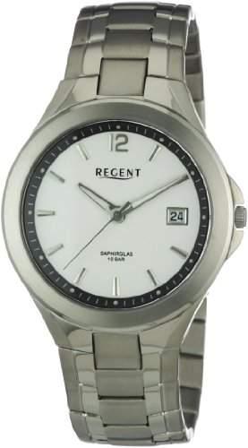 Regent Herren-Armbanduhr XL Analog Titan 11090263