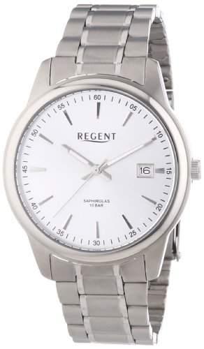 Regent Herren-Armbanduhr XL Analog Quarz Titan 11090308