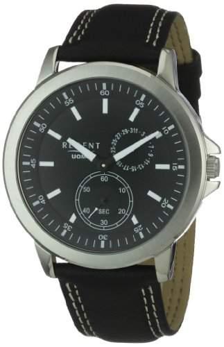 Regent Herren-Armbanduhr XL Analog Leder 11110585