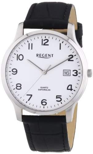 Regent Herren-Armbanduhr XL Analog Quarz Leder 11110662