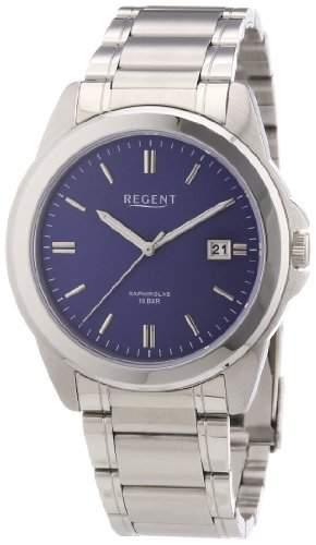 Regent Herren-Armbanduhr XL Analog Quarz Edelstahl 11150545