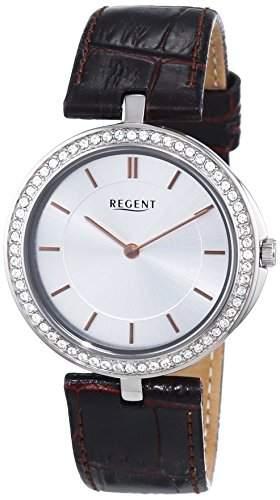 Regent Damen-Armbanduhr XS Analog Quarz Leder 12090289