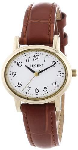 Regent Damen-Armbanduhr Analog Quarz Leder 12100539
