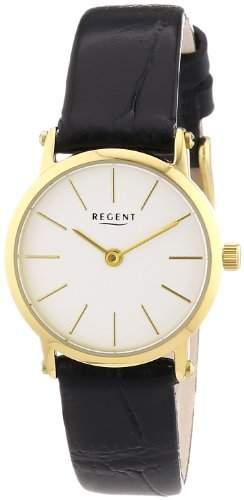 Regent Damen-Armbanduhr XS Analog Quarz Leder 12100549