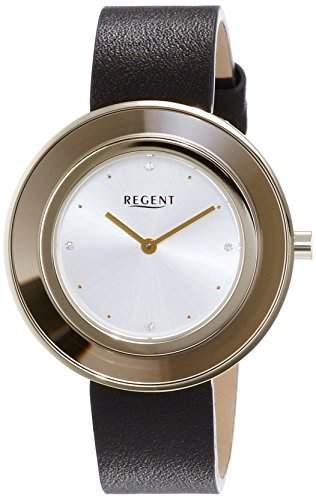 Regent Damen-Armbanduhr Analog Quarz Leder 12100585