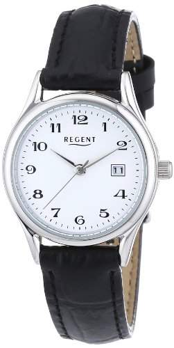 Regent Damen-Armbanduhr XS Analog Quarz Leder 12110913