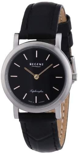Regent Damen-Armbanduhr XS Analog Quarz Leder 12111055