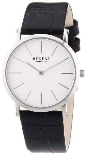 Regent Damen-Armbanduhr XS Analog Quarz Leder 12111089