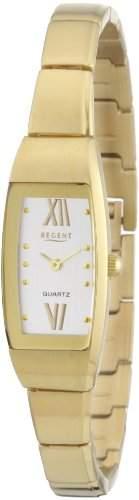 Regent Damen-Armbanduhr Analog Edelstahl beschichtet 12210741