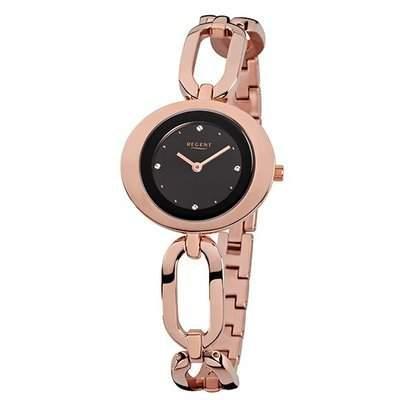 Regent Damen-Armbanduhr Analog Quarz Edelstahl beschichtet 12210918