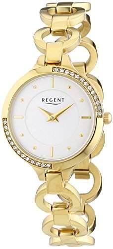 Regent Damen-Armbanduhr XS Analog Quarz Edelstahl beschichtet 12210929