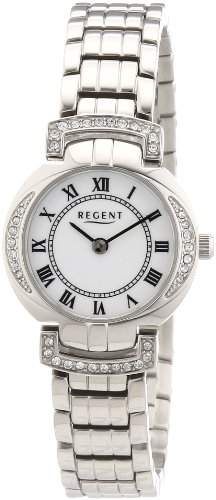Regent Damen-Armbanduhr XS Analog Quarz Edelstahl 12220881