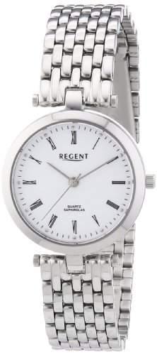Regent Damen-Armbanduhr XS Analog Quarz Edelstahl 12220942