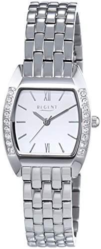 Regent Damen-Armbanduhr Analog Quarz Edelstahl 12220958