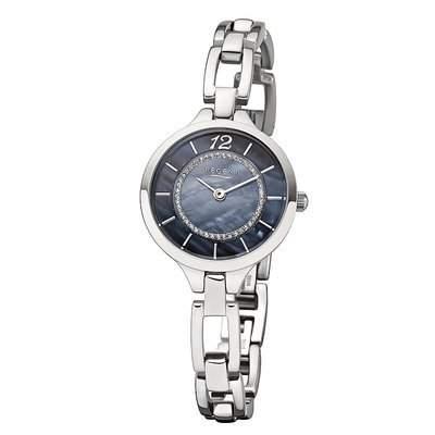 LD-1503 - Uhr - silberfarbenblau - Perlmutt