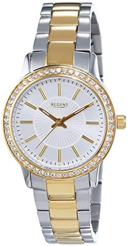 Regent Damen-Armbanduhr XS Analog Quarz Edelstahl beschichtet 12230607
