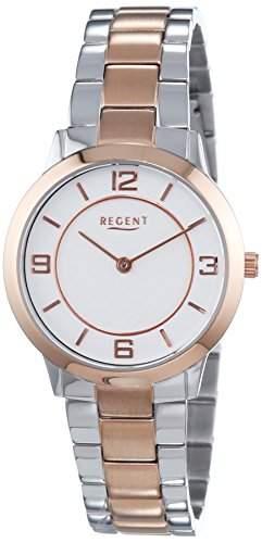 Regent Damen-Armbanduhr XS Analog Quarz Edelstahl beschichtet 12230620