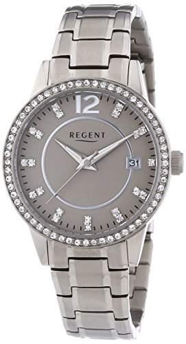 Regent Damen-Armbanduhr XS Analog Quarz Titan 12290407
