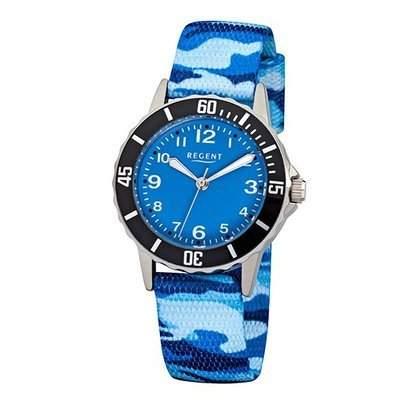 Regent Kinderuhr Camouflage blau 12400236