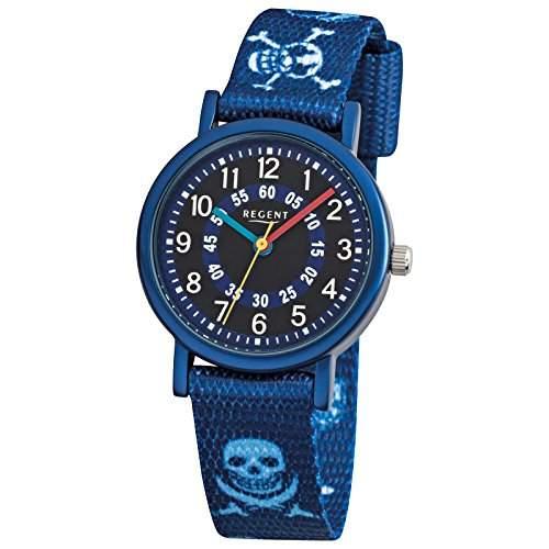 Regent Kinderuhr Pirat blau 12400247