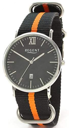 Regent 18054016 Edelstahl Herrenuhr Textilband
