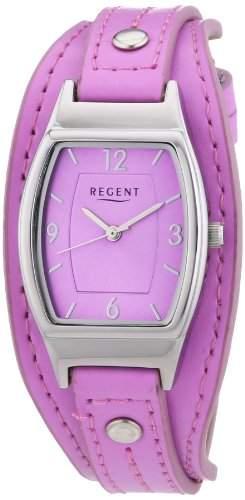 Regent Damen-Armbanduhr Analog Quarz Leder 12110933