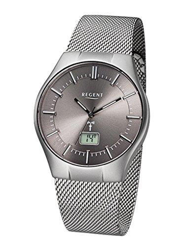 Regent Uhr Analog Digitale Herren Funk Armbanduhr Modell FR 215 mit Datumsanzeige