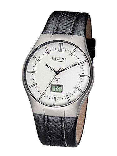 Regent Uhr Analog Digitale Herren Funk Armbanduhr Modell FR 217 mit Datumsanzeige