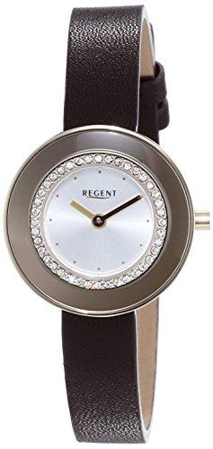 Regent Damen Armbanduhr XS Analog Quarz Leder 12100581