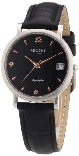 Regent Damen Armbanduhr XS Analog Quarz Leder 12111078