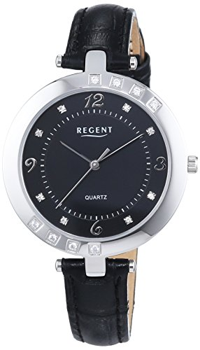 Regent Damen Armbanduhr XS Analog Quarz Leder 12111133