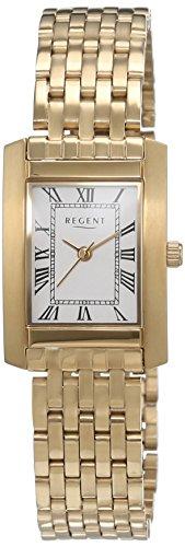 Regent Damen Armbanduhr Analog Quarz Edelstahl beschichtet 12210949
