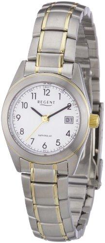 Regent Damen Armbanduhr XS Analog Edelstahl beschichtet 12230475