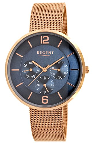 Regent Uhr Damen Edelstahl Armbanduhr Modell DM 8048 Multifunktion