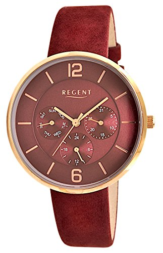 Regent Uhr Damen Edelstahl Armbanduhr Modell DM 8031 Multifunktion